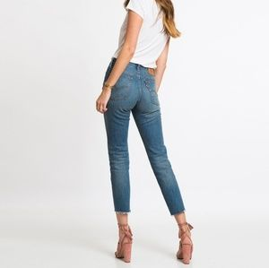 Levi's Wedgie Fit Jeans Rare From Cone Mills